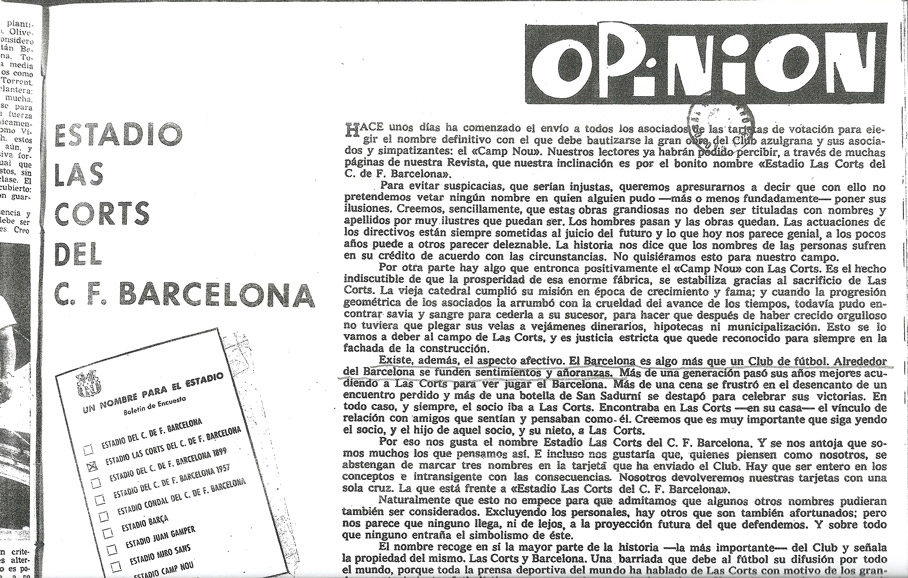 """UN HALLAZGO SENSACIONAL QUE EL MADRIDISMO CEDE AL BARCELONISMO SOBRE LA MITICA FRASE """"MAS QUE UN CLUB"""""""