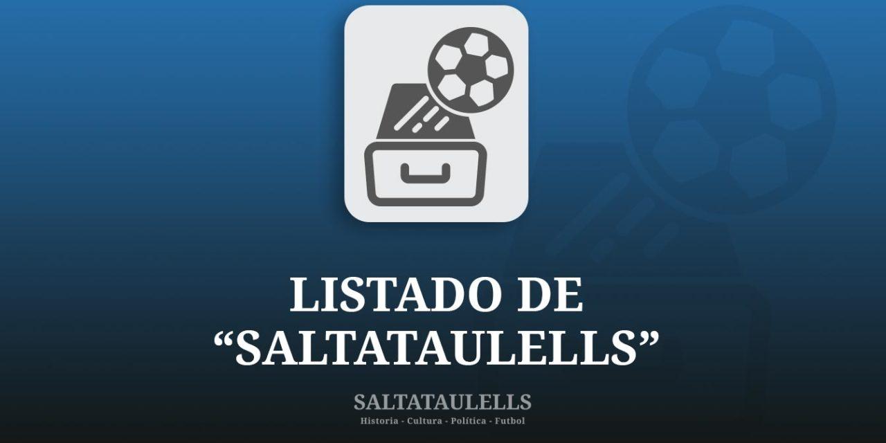 """LISTADO DE """"SALTATAULELLS"""""""