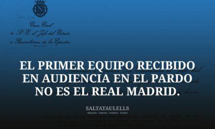 EL PRIMER EQUIPO RECIBIDO EN AUDIENCIA EN EL PARDO… NO ES EL REAL MADRID.