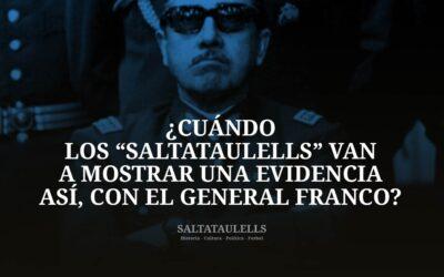"""¿CUÁNDO LOS """"SALTATAULELLS"""" VAN A MOSTRAR UNA EVIDENCIA ASÍ, CON EL GENERAL FRANCO?."""