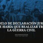 MODELO DE DECLARACIÓN JURADA QUE HABÍA QUE REALIZAR TRAS LA GUERRA CIVIL, PARA SER DIRIGENTE O JUGADOR DE FÚTBOL.